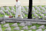 Pope Francis solemn mass at the war memorial at Redipuglia