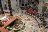 Wedding ceremony celebrated as part of a mass by Pope Francis