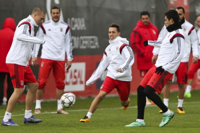 Benfica training session